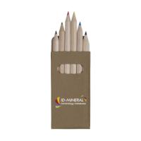 Sixcolour Coloured Pencils Wood