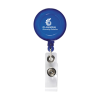 Badgeclip Badge Holder Transparent-Blue