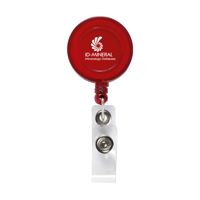 Badgeclip Badge Holder Transparent-Red