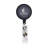 Badgeclip Badge Holder Transparent-Black