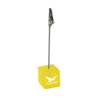 Clip Photo/Memo Holder Transparent-Yellow