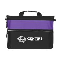 Doublezipper Document Bag Purple