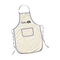 Apron Beige-And-Blue
