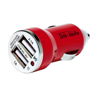 Dual Usb Carcharger Red