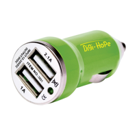 Dual Usb Carcharger Green