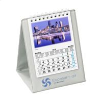 Desk Calendar Skyline Grey
