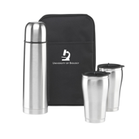 Thermobag Thermo Flask & Cups Silver