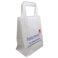 180 x 104 x 225 External Flat Tape Carrier Bags - Printed 1 Side