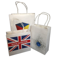 260 x 130 x 350 Twisted Paper Carrier Bags - Printed 2 Sides