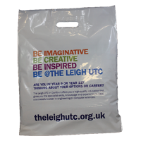Polythene Patch Carrier Bags - Printed 2 Sides