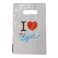 Polythene Punch Carrier Bags - Printed 1 Side