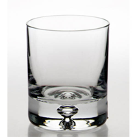 Bulk packed bubble based whisky glass