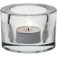Clear Glass Candle Holder