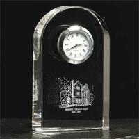 Optical crystal clock
