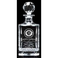 Cut square crystal decanter