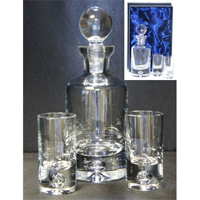 Crystal mini decanter set