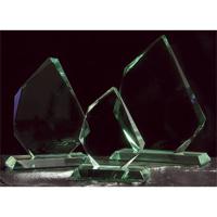 Large jade green trophy prism