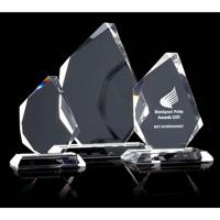 Large optical crystal trophy prism