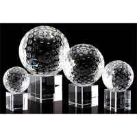 100mm golfball trophy