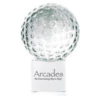 60mm golfball trophy