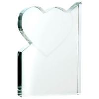 Medium crystal heart award