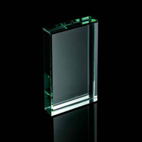 Jade green rectangle paperweight