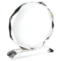 Large crystal octagon award