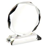 Small crystal octagon award