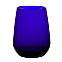 Cobalt blue premium crystal water tumbler bulk packed