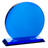 Large blue trophy circle
