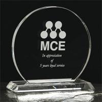 Medium crystal trophy circle