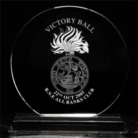 Small crystal trophy circle