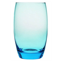 Blue bowl shaped highball