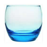 Blue bowl shaped tumbler
