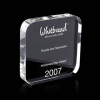 Square Crystal Award with rounded corners