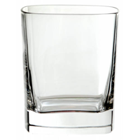 Small crystal square tumbler, bulk packed