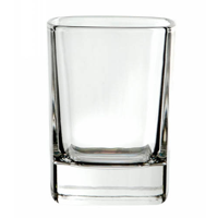 Crystal square tot glass, bulk packed