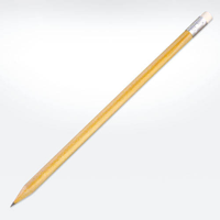 Wooden Eco Pencils with Eraser - PEFC