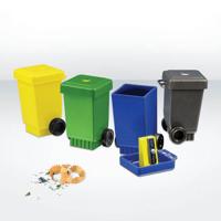 Recycled Pencils Sharpeners - Wheelie Bin
