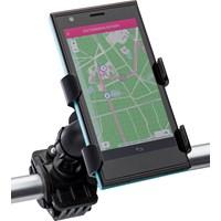 Plastic adjustable mobile phone holder for a bike.
