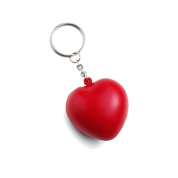 Anti stress heart and key holder