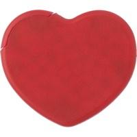 Heart plastic mint card.