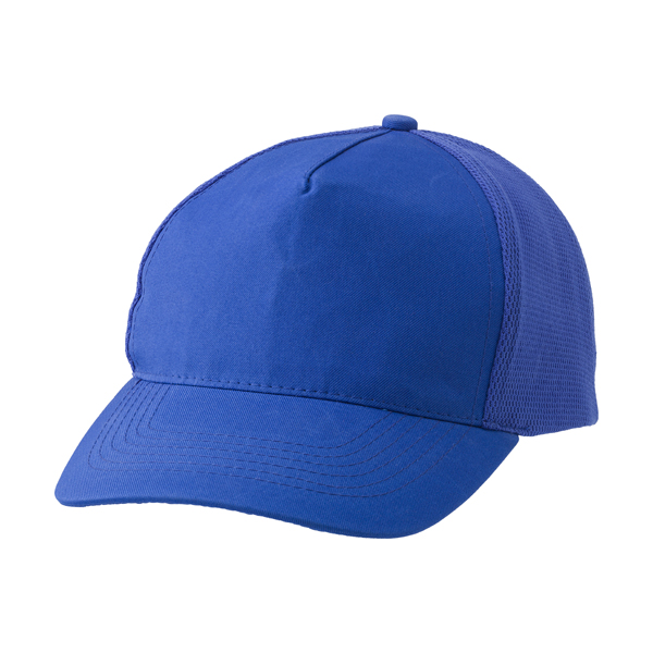 Polyester cap with five panels.