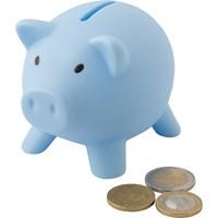 Plastic piggy bank.