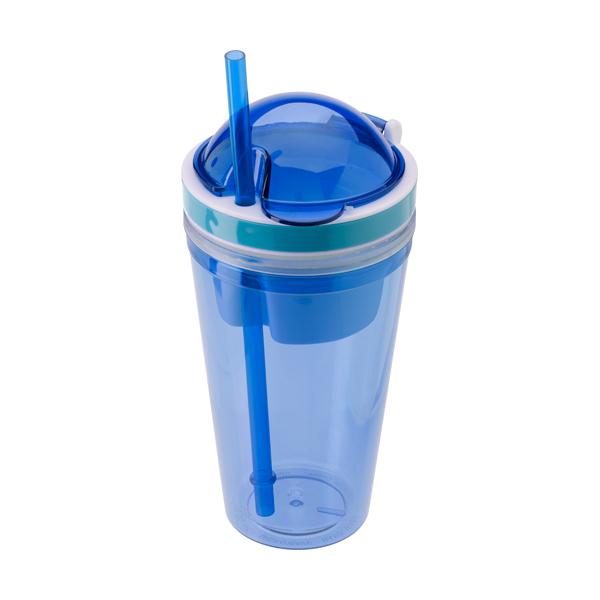 340ml Transparent coloured plastic mug.