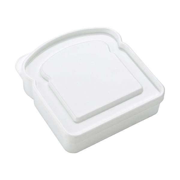 Plastic sandwich shaped lunch box