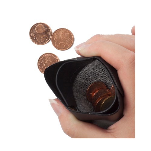 PVC Pinch wallet.