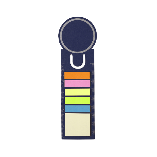 Bookmark and sticky notes.