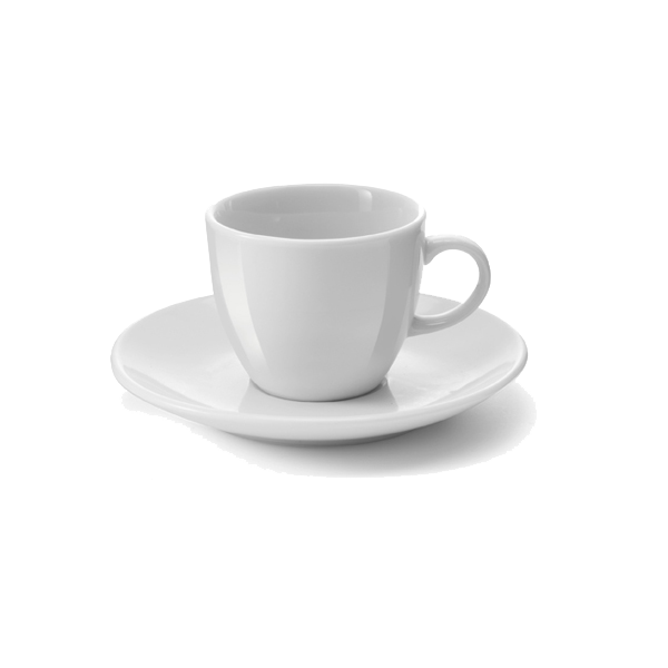 White porcelain cup and saucer, 100cc/ml. sold per 72pcs