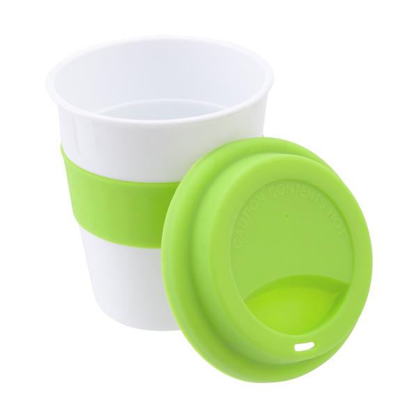 Plastic 356ml drinking mug.